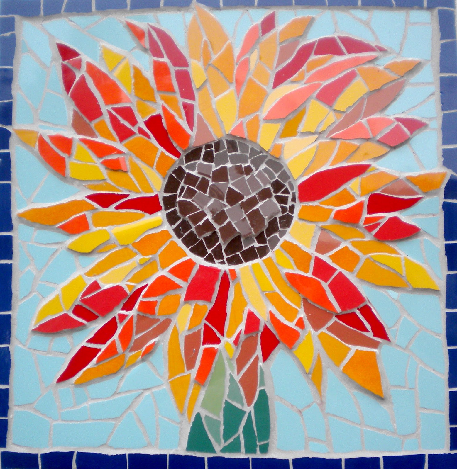 Felicity ball mosaics mosaic spring colour for Easy mosaic designs