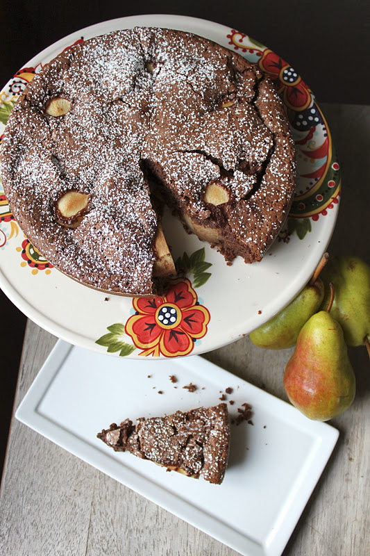 Flourless Chocolate and Pear Cake - The Little Epicurean