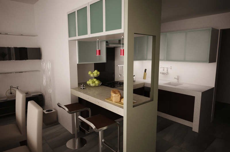 Como decorar mi casa blog de decoracion desayunador for Cocinas modernas pequenas para apartamentos con desayunador