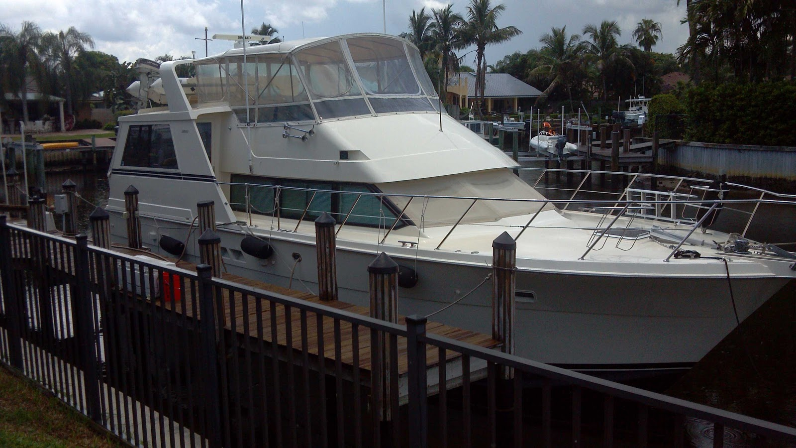 We looked at a 52' Hatteras motor yacht ...