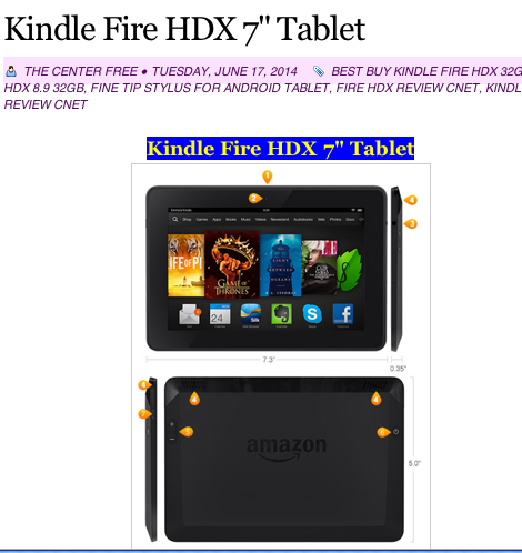 KINDLE FIRE HDX TEBLET