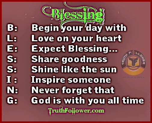 Blessing Being Blessed Quotes