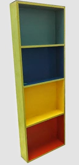 Uhuru Furniture Collectibles Multi Color Painted Bookcase REDUCED
