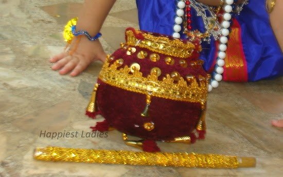 how to dress baby as lord krishna