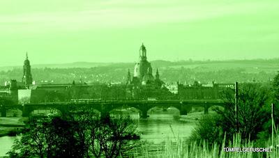 Blick von der Feldschlösschenbrücke gen Altstadt