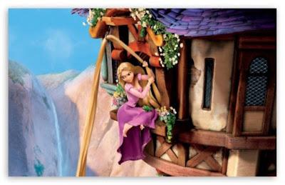 Gambar Kartun Rapunzel in Tangled gratis