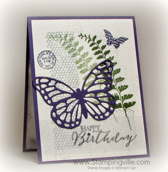 Butterfly Basics stamp set + Butterflies Thinlits Dies = beautiful birthday card #cardmaking #papercrafts #StampinUp