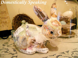 Nursery Project #1 - Beatrix Potter Decoupage Bunny