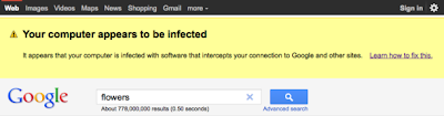 Google Malware Warning Screenshot