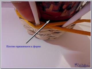плетение верёвочкой как основной вид