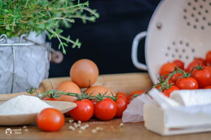 gegrillte Tomaten Ziegenkäse Quiche | pigugi.blogspot.com