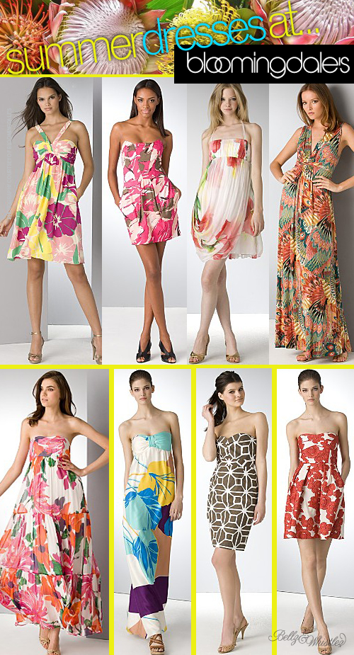 Fancy To A Summer Dress No Frillies Satin And Boning Here Just Chic Tropical Printed Beauties That They Will Look Lovely Wearing