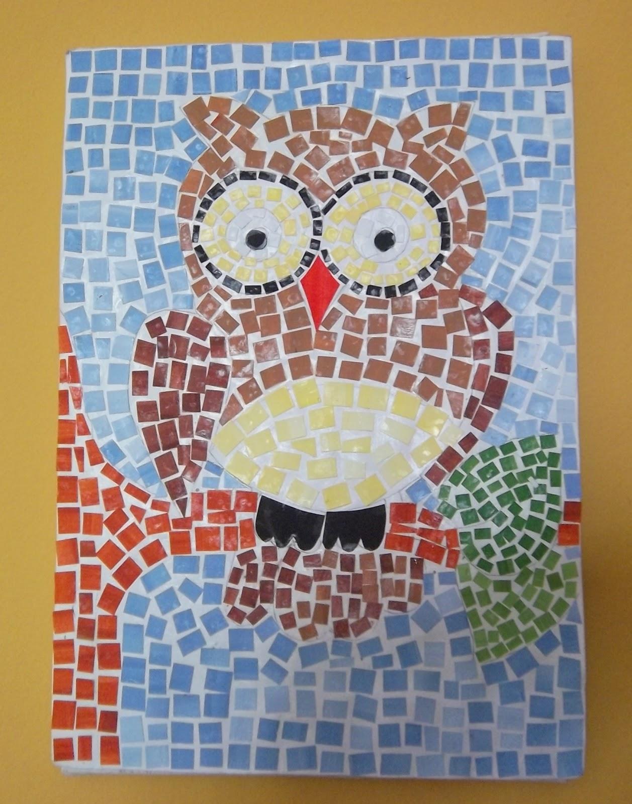 Reciclar com papier m ch mosaico desestressante for El mural de mosaicos