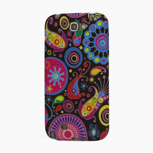 Colorful Flower Ribbon TPU Jelly Case for Samsung Galaxy Note 2 / II N7100