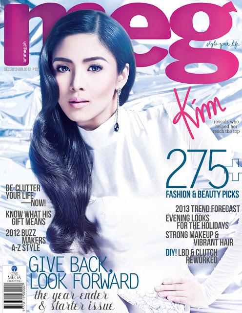 Kim Chiu Covers Meg Magazine December 2012-January 2013 Issue