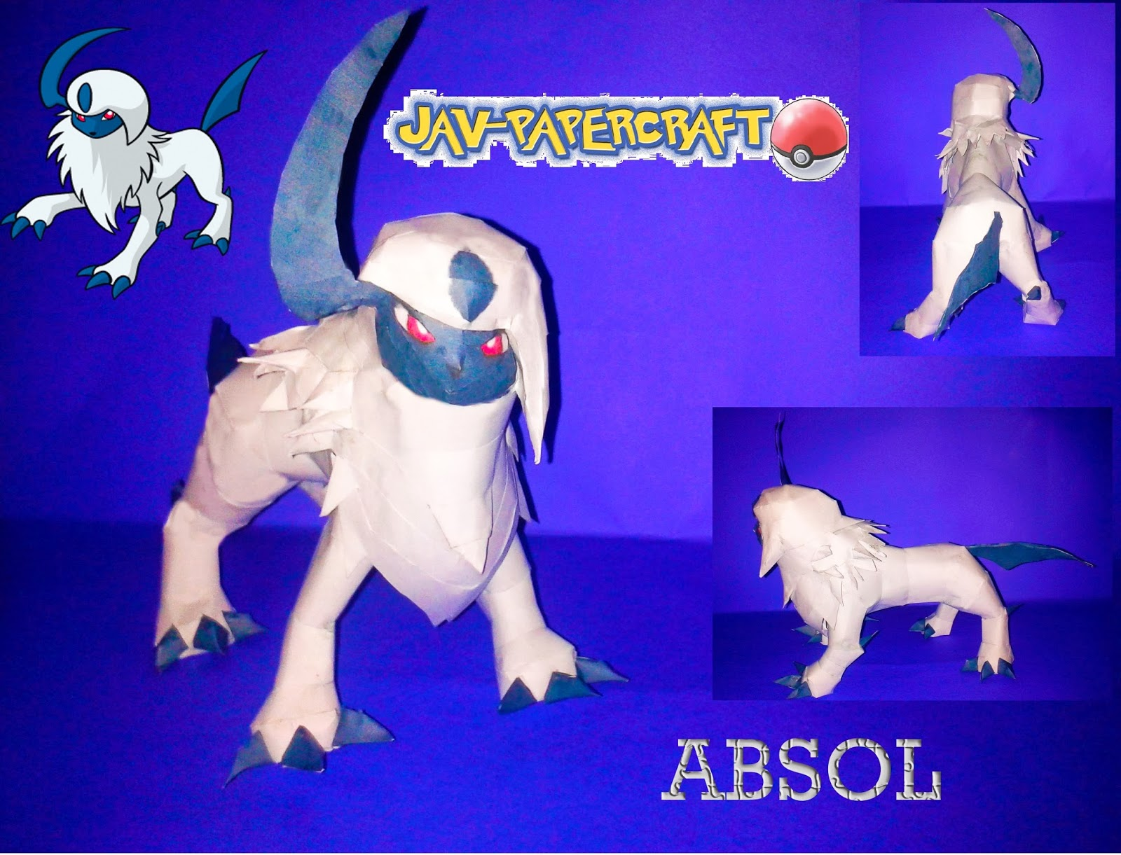 Pokemon Absol Paper Model