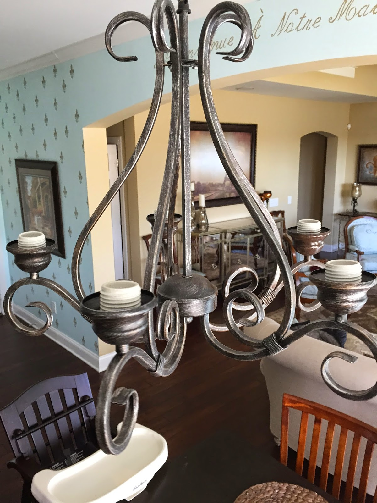 The Gracious Way Chandelier Makeover