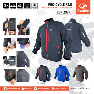 Light Jacket For Your Cycling Activity.  Pro Cycle R1.B Series