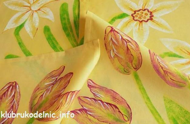 Контуры цветов на стены