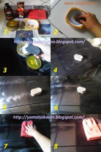 Langkah kerja memberi wax
