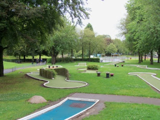 Crazy Golf course at Tredegar Park in Newport, Wales