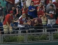 Phillies fan hit in head by Anthony Rendon HR