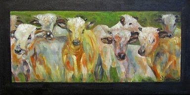 """The Gathering"" a group of cattle- SOLD!"