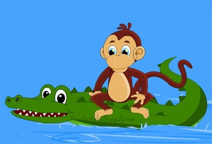 Monkey and the Crocodile 4
