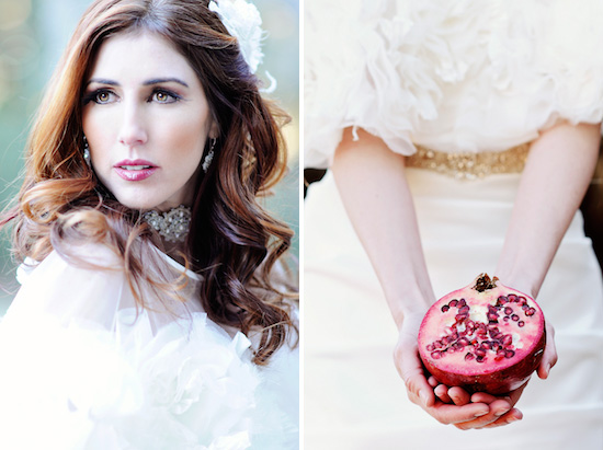Pomegranate Editorial Shoot in Bridal Guide Magazine