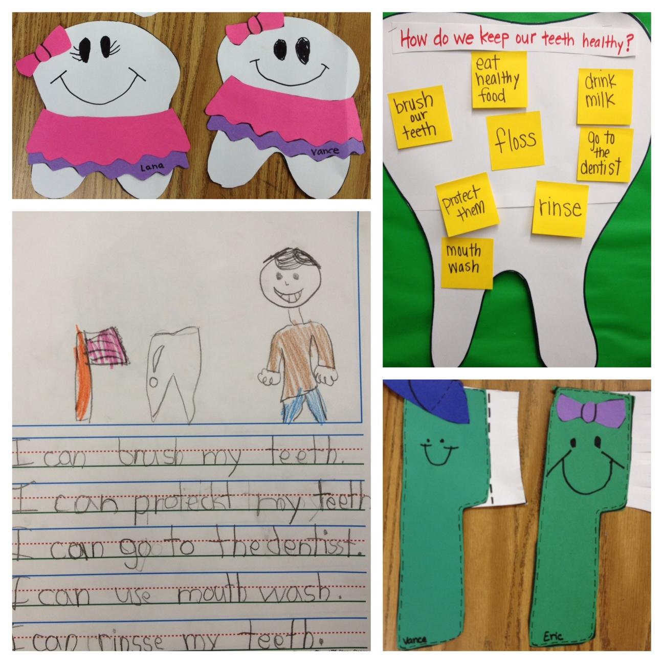 Dental Health Month on Loose Teeth Worksheet Kindergarten