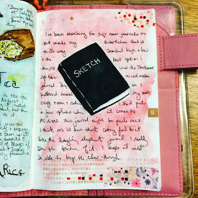 Image of Hobonichi entry about new sketchbook