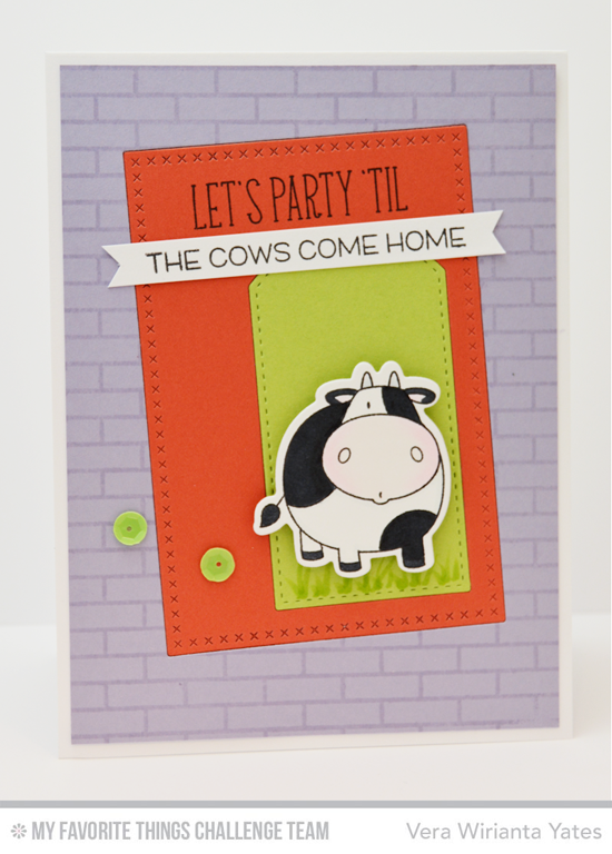 Let's Party Card by Vera Wirianta Yates featuring the Birdie Brown The Whole Herd stamp set and Die-namics