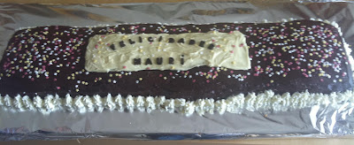 Tarta de chocolate para 40 personas