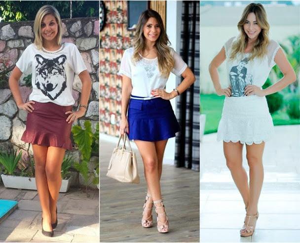 Modelos saias tendência verão 2015
