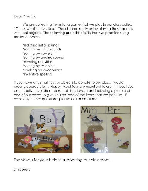 vocabulary parent letter essay