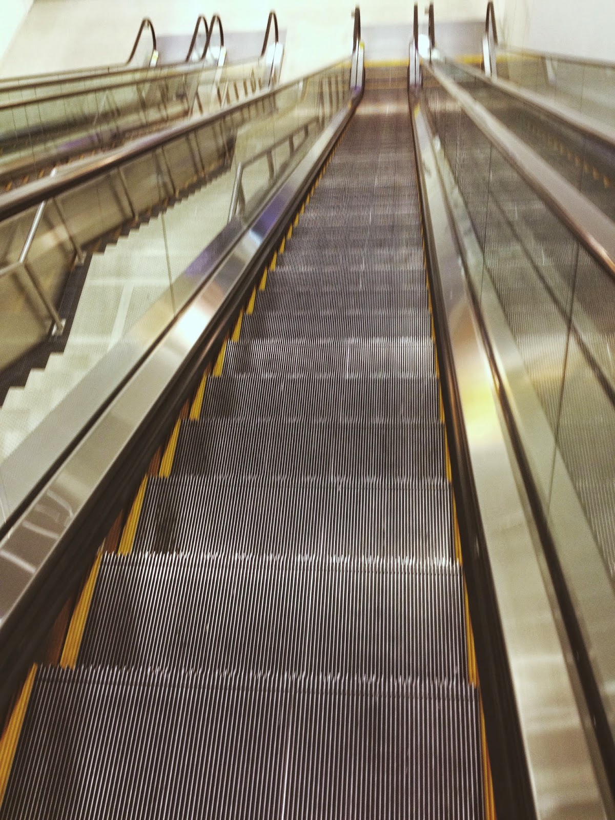 Escalators in Washington D.C. airport