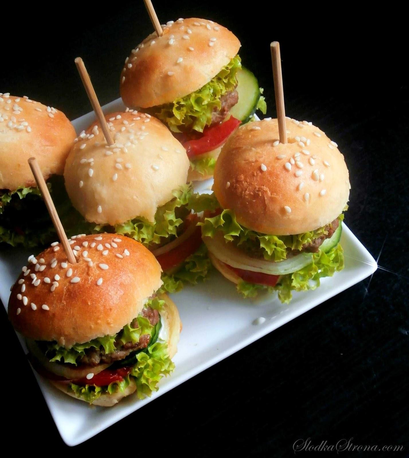 domowy fast food hamburgery
