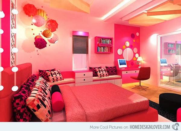 10 desain kamar tidur anak perempuan warna pink