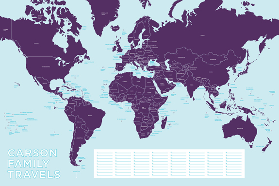 The pink chalkboard map your adventures etsy seller melangerie inc has designed this beautiful world map with which you can map your adventures just place a pushpin anywhere on the map and write gumiabroncs Image collections