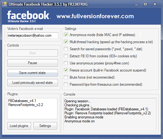 Download free Ultimate Facebook Hacker v3.5.1 latest full version