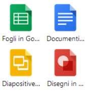 Applicazioni su Chrome per creare documenti, fogli e diapositive