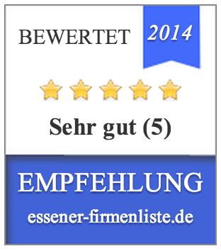 Bewertungssiegel von essener-firmenliste.de