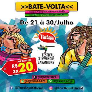 Excursão FIG 2016 - Saindo de Olinda, Recife e Campina Grande