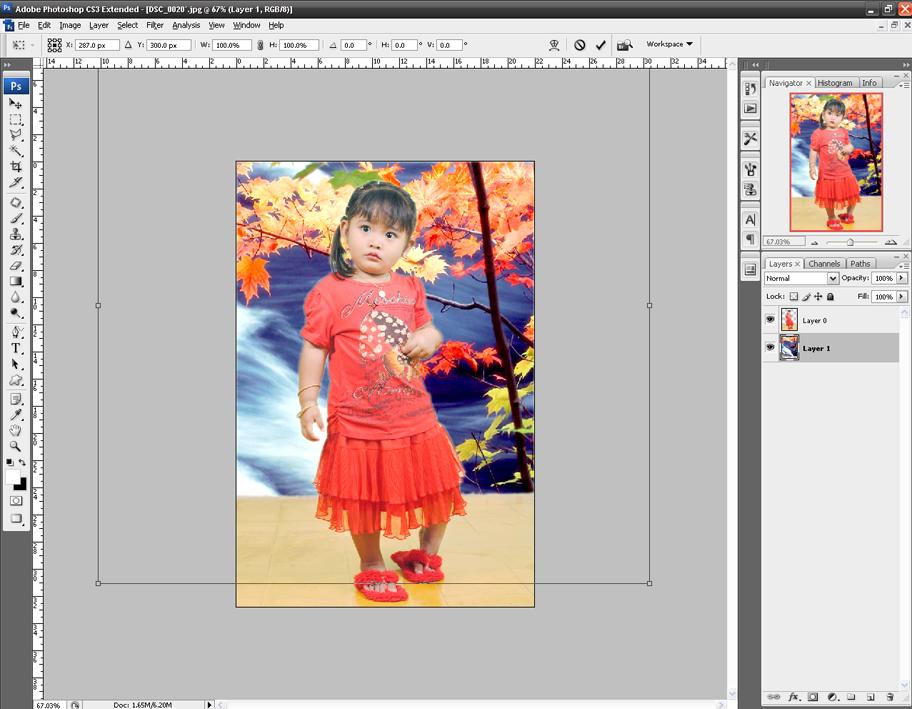 berikut adalah contoh foto yang telah kita modifikasi backgroundnya ...