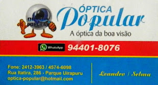 Apoio: Otica Popular
