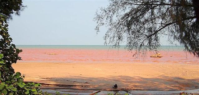 Keindahan Laut Yang Membiru tercemar menjadi merah kerana bauksit