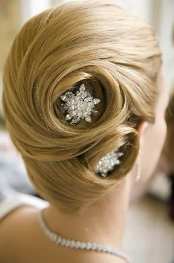 french twist with gorgeous hair pieces