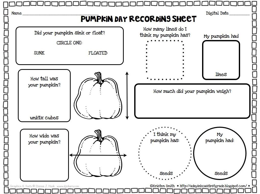 Fine Pumpkin Math Worksheets First Grade Photos - Worksheet ...