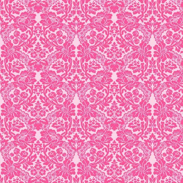 Free Digital Pink Damask Scrapbooking Paper