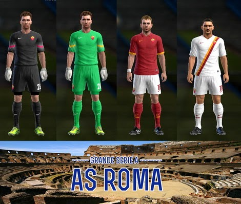 PES 2013 AS ROMA 14-15 Kits by AkmalRW